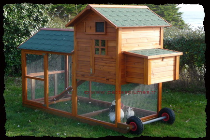 "Poulailler Mobile ""Chicken House 2"" Avec roues gonflables."